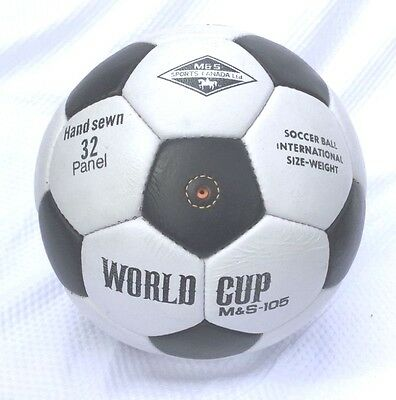 Brand New Soccer Ball World Cup Leather Size 5 hand made 32 panels football