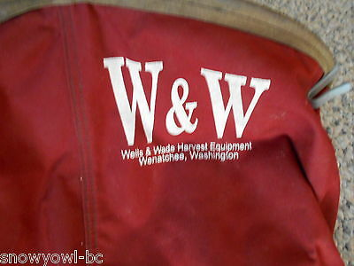 Orchard,canvas,leather,fruit Picking Bag,w & W,wells & Wade,wenatchee,red....