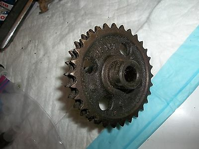 81 Mercedes 380 SL distributor - timing chain gear DOUBLE ROW chain 1161570714