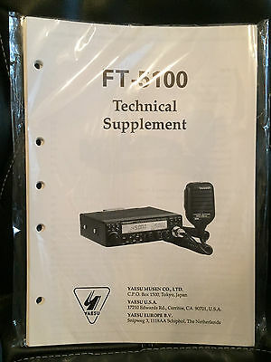 NOS Yeasu FT-5100 Technical Supplement (Service Manual)