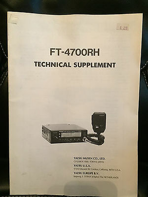 NOS Yeasu FT-4700RH Technical Supplement (Service Manual)