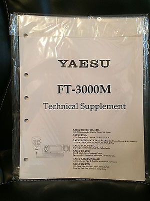 NOS Yeasu FT-3000M Technical Supplement (Service Manual)