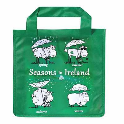 Ireland Shopper Bag With 4 Sheep And 4 Seasons Design