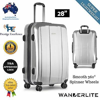 """Travel LUGGAGE Suitcase Lightweight 28"""" Trolley Hard Shell Carry On Bag Case NEW"""