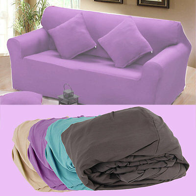 Elasticity Couch Sectional Sofa Furniture Slipcover 1/2/3 Seater 12 Colors IB