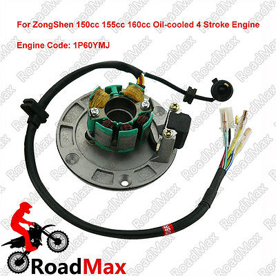 Engine Magneto Coil Stator For Zongshen 150cc 155cc 160cc 4 Stroke Engine