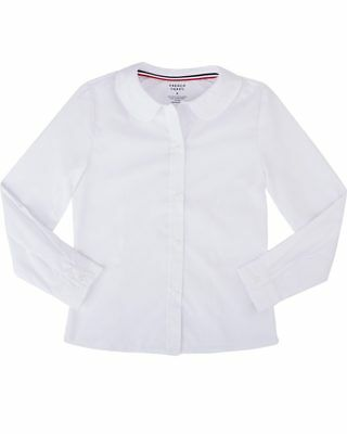 French Toast - Girls' Long Sleeve Peter Pan Poplin Blouse - SE9384