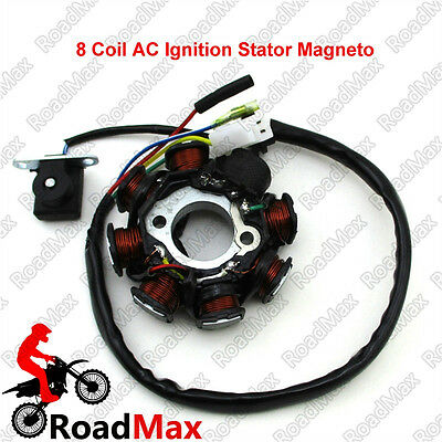 8 Coil AC Ignition Stator Magneto For GY6 50cc Engine Scooter ATV Go Kart