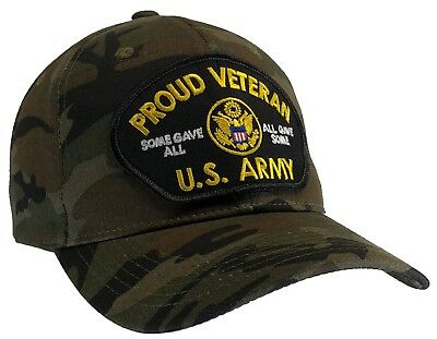 ee135add526 U.S. ARMY VETERAN Hat Proud Veteran Hat Camo Ball Cap Some Gave All ...