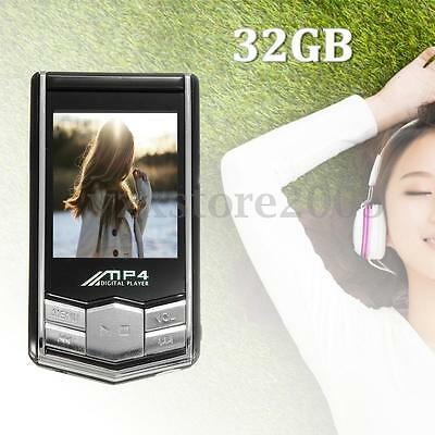 32GB MP4 MP3 Video Music Player 1.8'' LCD Slim Screen FM Radio Games & Movie