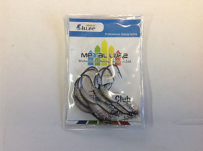 Worm Hook Soft plastic Bait hook Weighted 3g 1/0 spring lock Australian Stock