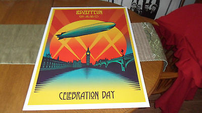 Led Zeppelin.celebration Day Numbered Lithograph Mint Condition