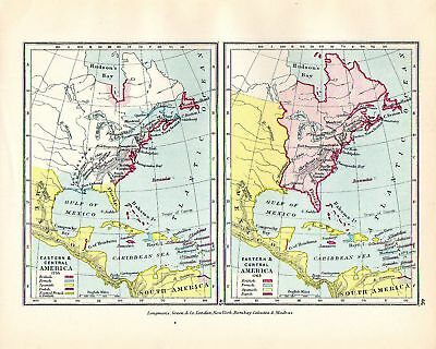 Victorian Maps ~ East & Central America In 1755 & 1763