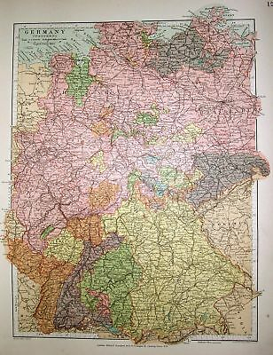 Stanford's 1892 Map Of Germany (Western)