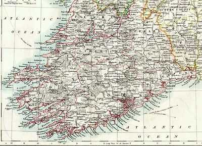 1904 Map ~ Ireland (South West)