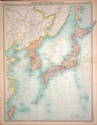 1920 Large Map Japanese Empire Political Map 37 07 Picclick