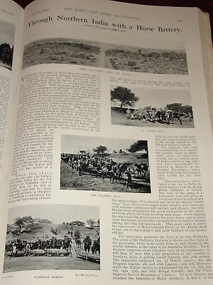 1899 Northern India Horse Battery Cavalry Camp Delhi