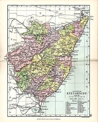 Nairn Scotland Map.1890 Map Counties Of Scotland Elgin Nairn Showing Parishes