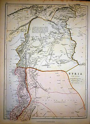 1882 Large Victorian Map ~ Syria ~ North Division