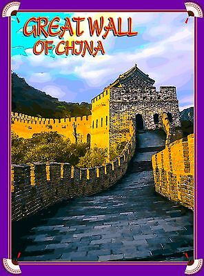 Great Wall of China Chinese Asia Asian Travel Advertisement Art Poster