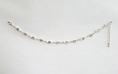 Ladies Silver Anklet Buttercup