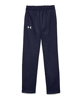 Under Armour Big Boys Every Team Fleece Pant, Youth Large, Midnight Navy/White