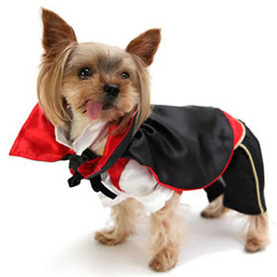 Dracula Vampire Dog Costume Fancy Dress Halloween
