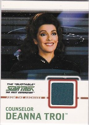Star Trek The Quotable Next Generation Costume C4 Deanna Troi Solid Blue Variant