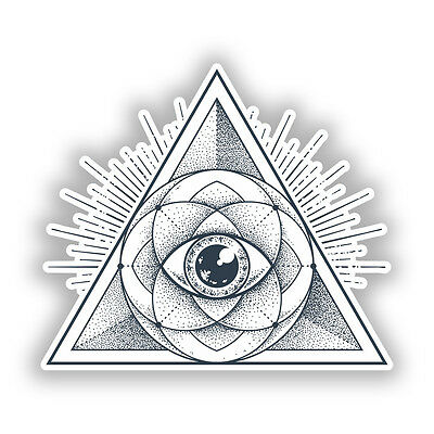 2 x All Seeing Eye of Providence Vinyl Sticker Car Travel Luggage #9729