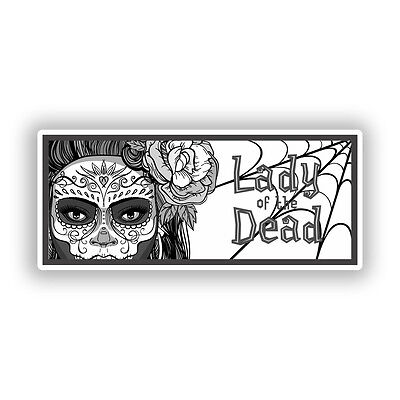 2 x Day of the Dead Vinyl Stickers Halloween #7246
