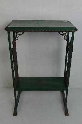 Antique Ornate Framed Wood & Cast Iron Stand in Paint
