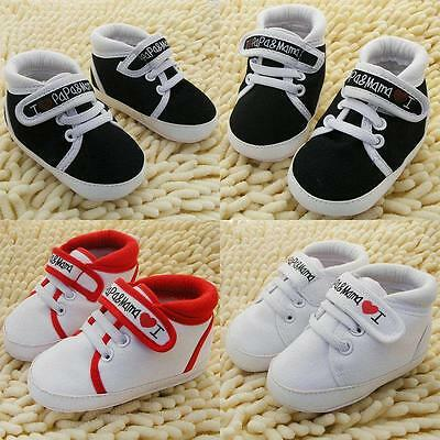Toddler Newborn Shoes Baby Infant Kids Boy Girl Soft Sole Canvas Sneaker Hot S01