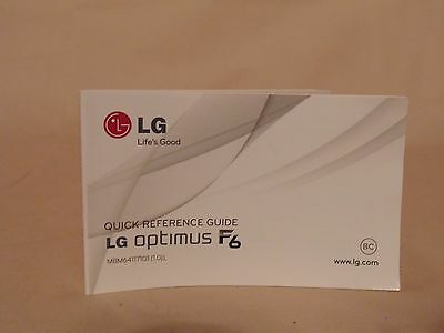 LG Optimus F6 Quick Reference Guide Manual Book