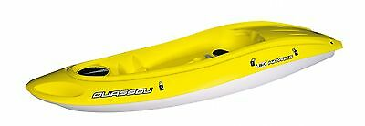 Bic Ouassou Sit On Top Kayak Yellow With Fins & 2 Part Paddle