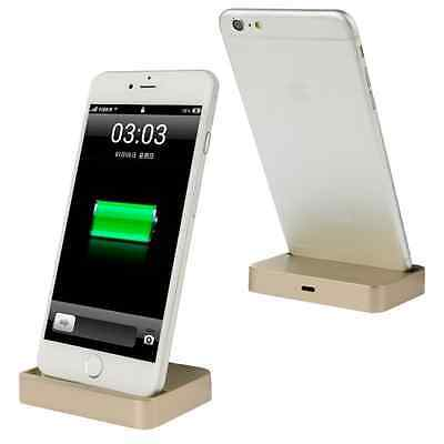 New Desktop Charging Dock Stand Charger For Apple iPhone 7 6s 6 & Plus Gold