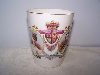 British Royalty King George V & Queen Mary Coronation Beaker June 22, 1911