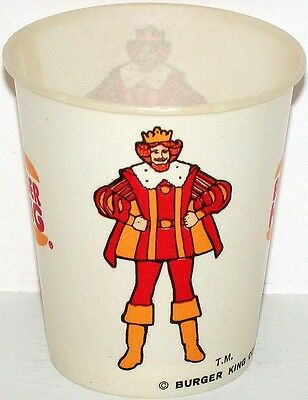 Vintage paper cup BURGER KING picturing the King dated 1977 new old stock nrmt+