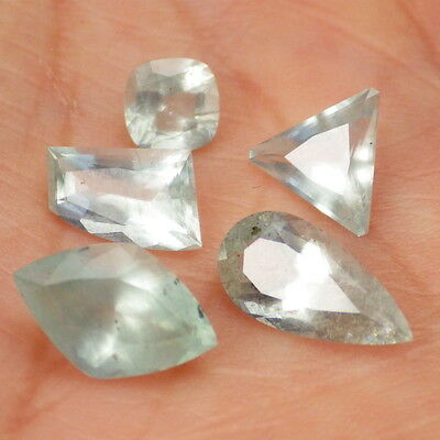 AQUAMARINE-MOZAMBIQUE 5.71 Ct TW CLARITY VS-P1-VERY VERY LIGHT BLUE GREENISH