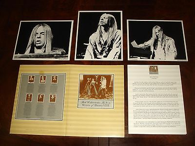 Very Rare RICK WAKEMAN of YES SIX WIVES OF HENRY VIII 1973 A&M RECORDS PRESS KIT