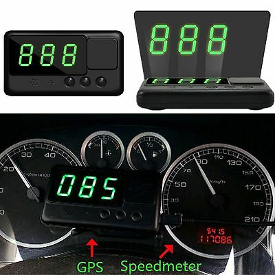 Head-up Display Car HUD GPS Speedometer Digital LED Overspeed Warning MPH/KM/h