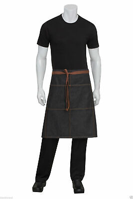 Urban Denim Apron | Adult Unisex Plain 3/4 Waist | Cafe Waiter Culinary Apparel