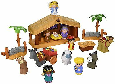 Fisher-Price Little People Music & Lights Nativity Set Christmas Story Scene NEW