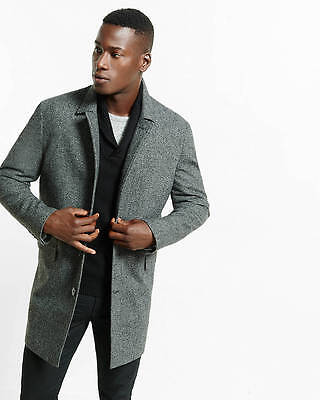 Brand New EXPRESS MEN Wool Blend Donegal Tweed Topcoat(XL) $278.00 2016