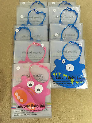 Wholesale Bulk Lot Bubba Blue Silicone Bibs -Bnib- X 9