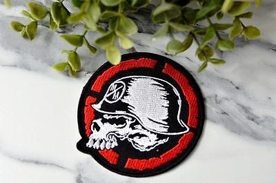 MM METAL MULI Skull Helmut MOTORCROSS Patch Patches Iron On Sew On Clothing Hat