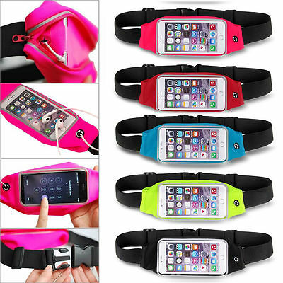 """Waterproof Sport Running Pouch Gym Waist Bag Case For iPhone 6S Plus 5.5"""" Less"""