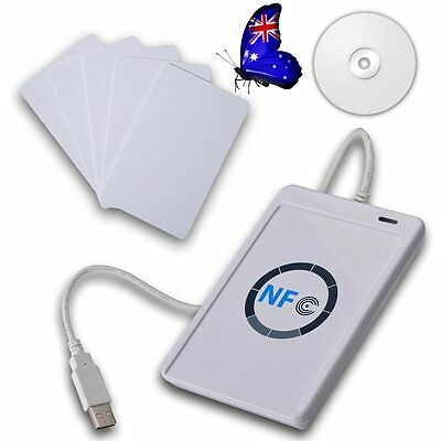 NFC ACR122U RFID Contactless smart Reader & Writer/USB with 5xMifare IC Card AU#