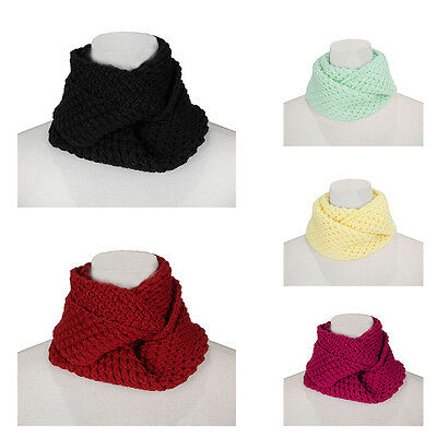 Baby Cable Knit Infinity Scarf Wool Shawl Wraps Cowl Neck Snood Kid Winter Warm