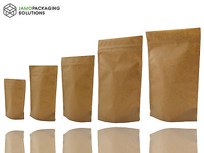 Papier Kraft Bag/pochette Support Refermable Café Graines Noix Grip