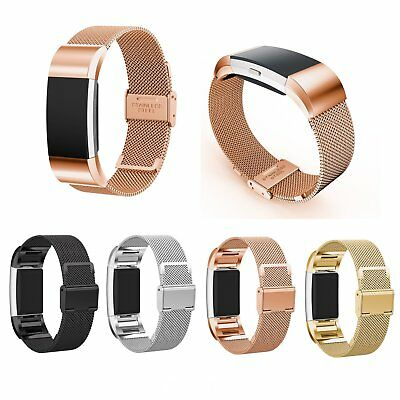 Milanese Watch Band Sports Strap Stainless For Fitbit Charge 2 Replacement New
